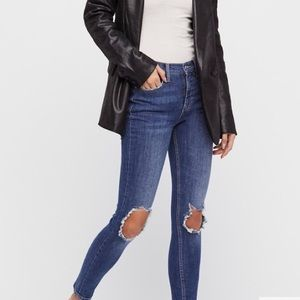 Free People Busted Knee High Rise Jean